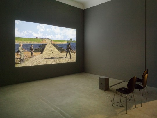 Clemens von Wedemeyer, Against the point of view (2016); exhibition view Neuer Berliner Kunstverein 2016, photo: Roman März